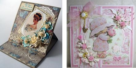Пример подарочных открыток в стиле скрапбукинг