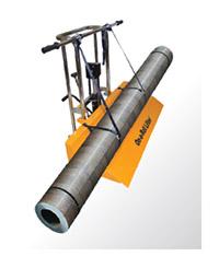 Тележка может использоваться для транспортировки линолеума
