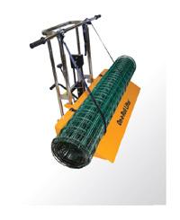 Тележка может использоваться для транспортировки сеток (рабицы, сварной, пластиковой и т.п.)